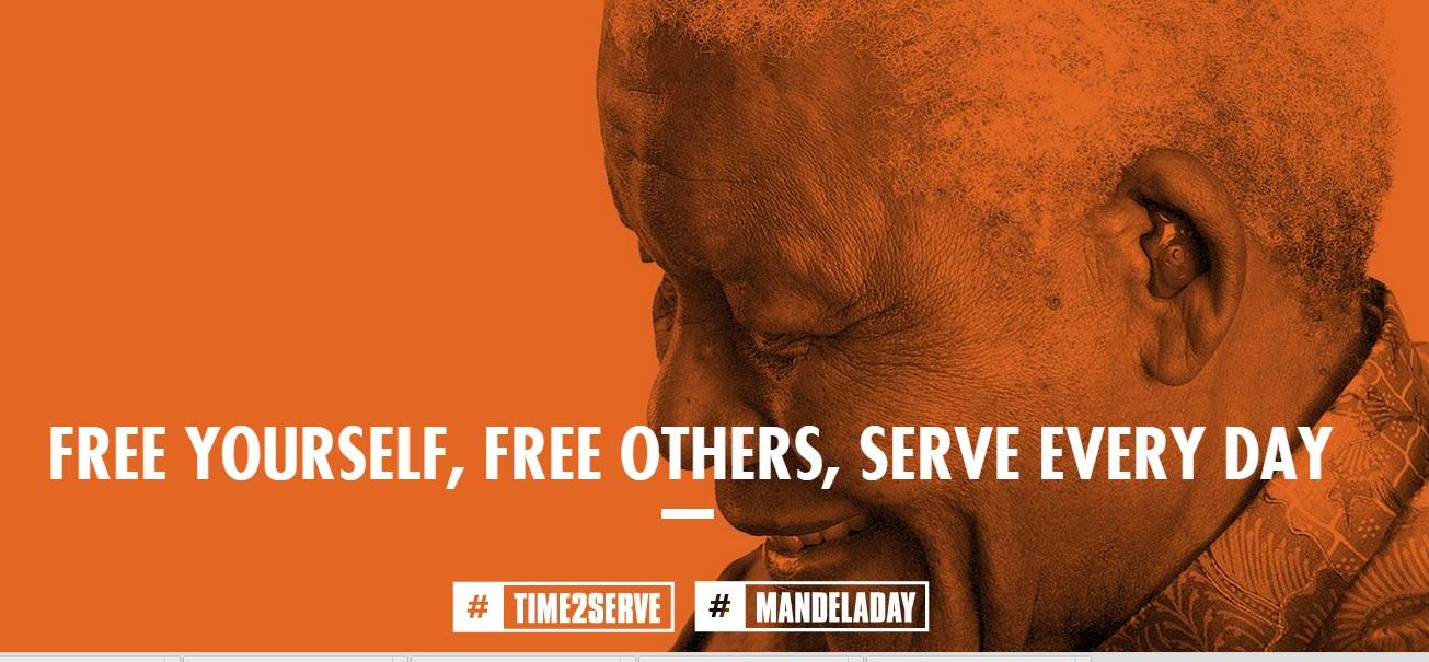 Alusivo ao Dia de Nelson Mandela.