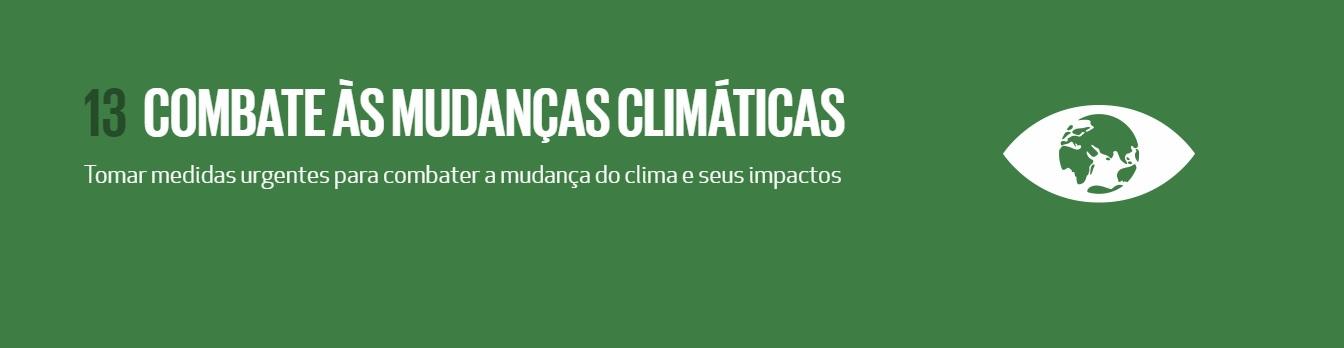 13  COMBATE ÀS MUDANÇAS CLIMÁTICAS